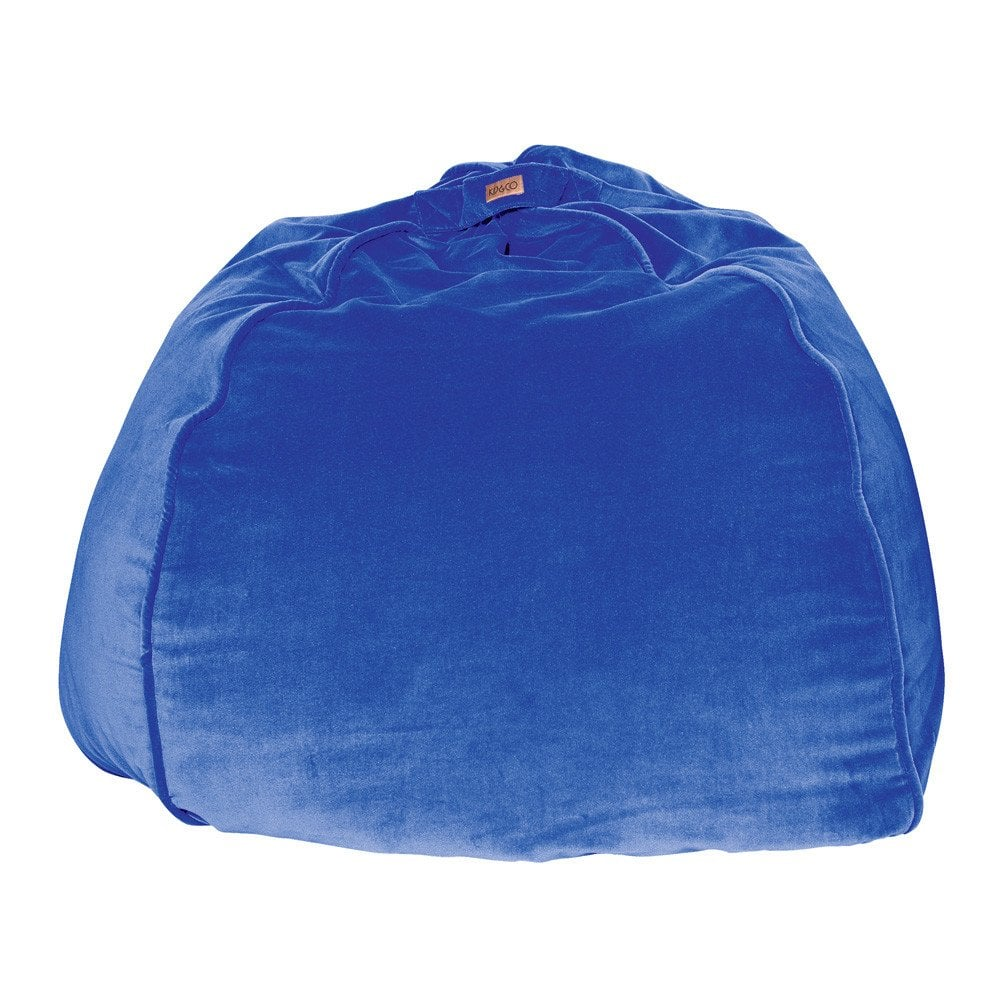 Kip & Co. Electric Blue Velvet Beanbag, $129