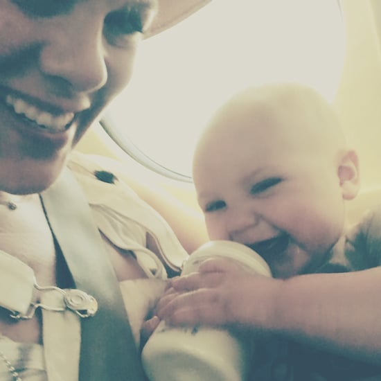 Pink's Photos With Son on an Airplane