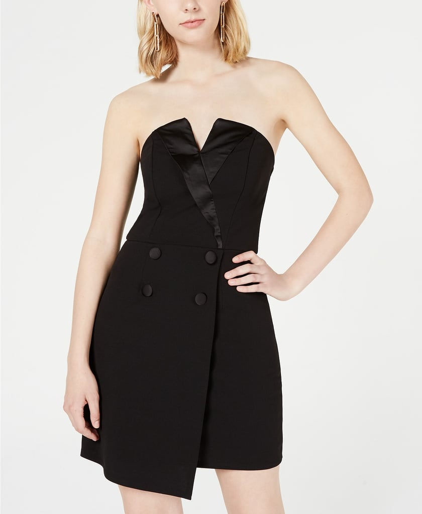 Trixxi Asymmetrical Tuxedo Dress