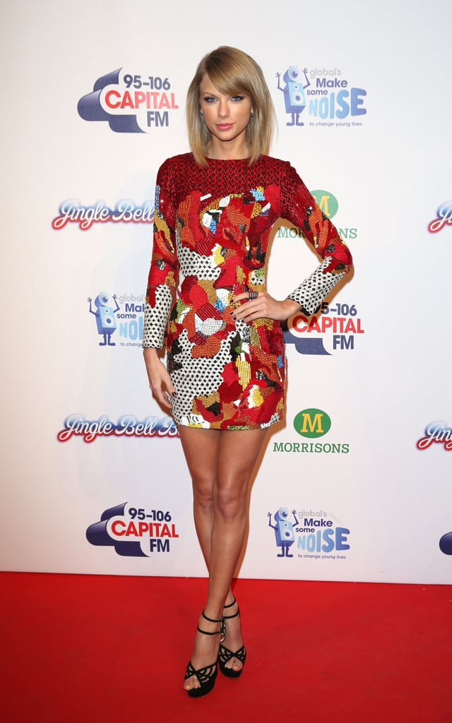 Taylor Swift stunned at the Jingle Bell Ball at London's O2 Arena on Sunday.