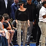 Jay-Z and Beyoncé Knowles arrived to see the Knicks.
