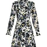 Erdem Bernette Floral-Print Silk Crepe de Chine Dress