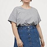 H&M+ A-Line Denim Skirt
