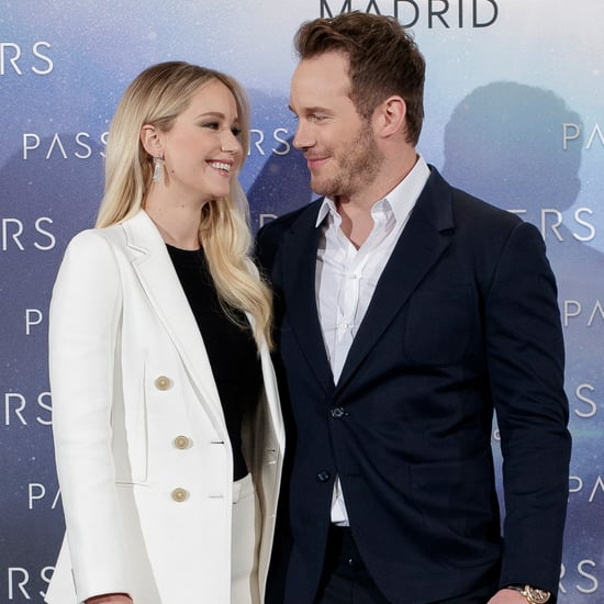 Jennifer Lawrence and Chris Pratt on Passengers Press Tour