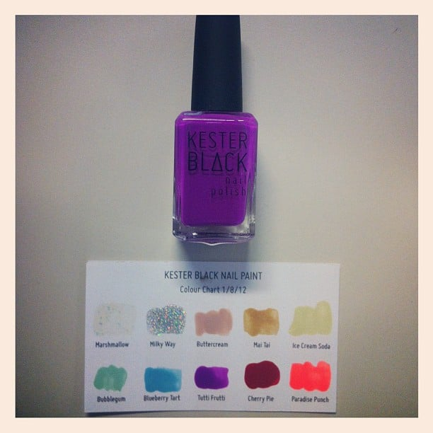Kester Black nail polishes hit BellaSugar's desk, and we were all super excited to check them out. Awesome colours and non-toxic — win.