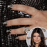 A dark-haired Fergie tried her hand at nail wraps (in a fierce animalistic print, nonetheless) at the 2009 ASCAP Awards.