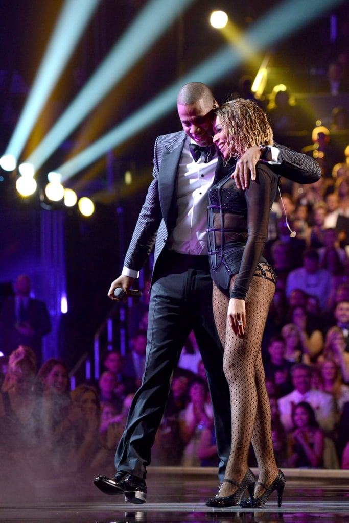 Beyonce and Jay Z at the Grammys 2014