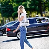 Instead of sneakers, try white loafers with a t-shirt and jeans.
