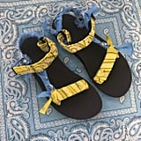 Arizona Love Trekky Bigout Blue Yellow Bandana Sandals