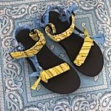 Arizona Love Trekky Bigout Blue Yellow Bandana Sandals
