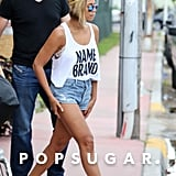 Beyoncé Knowles showed off a new bob hairstyle during a lunch date at Silvano restaurant in Miami with Jay Z and Blue Ivy Carter.