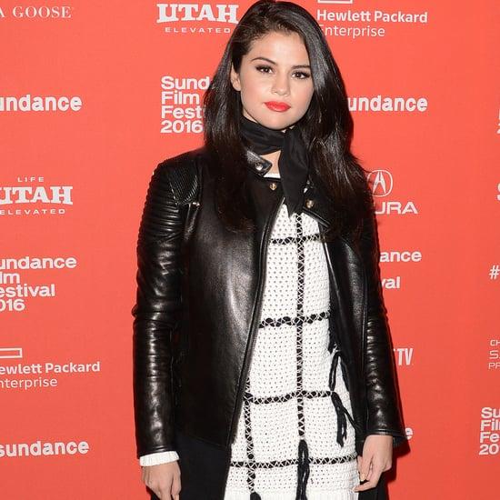 Selena Gomez in a Sweater Dress at Sundance