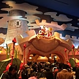 The Alice in Wonderland theme is impressively incorporated.