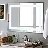 """Costway 27.5"""" LED Wall-Mounted React Mirror"""