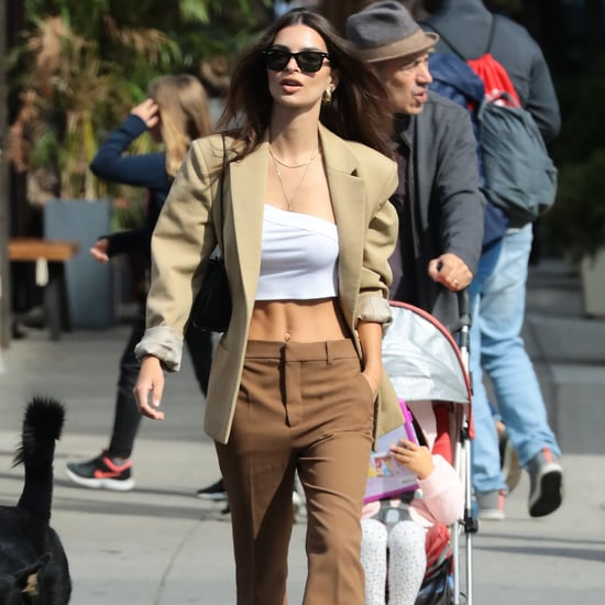 Emily Ratajkowski Channels the '90s in a Suit and Sneakers