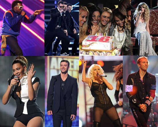 Photos of American Music Awards Backstage and Audience Including Rihanna, Justin Timberlake, Kanye West, The Jonas Brothers