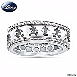 Sterling silver Mickey Mouse Ring With Engraved Spinning Band ($149)