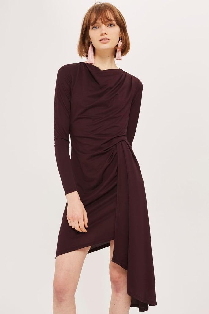 Topshop Asymmetric Drape Dress
