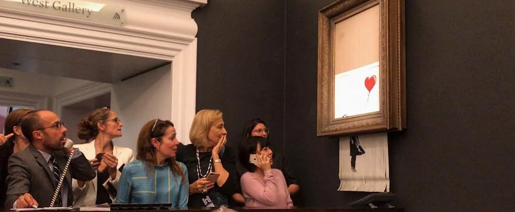 Banksy Painting Self-Destructs October 2018