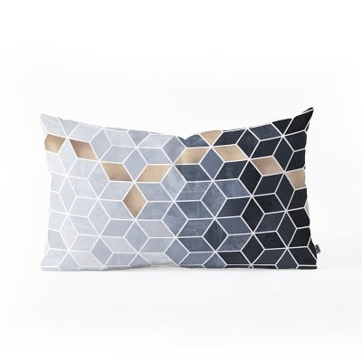Elisabeth Fredriksson Gradient Cubes Lumbar Throw Pillow