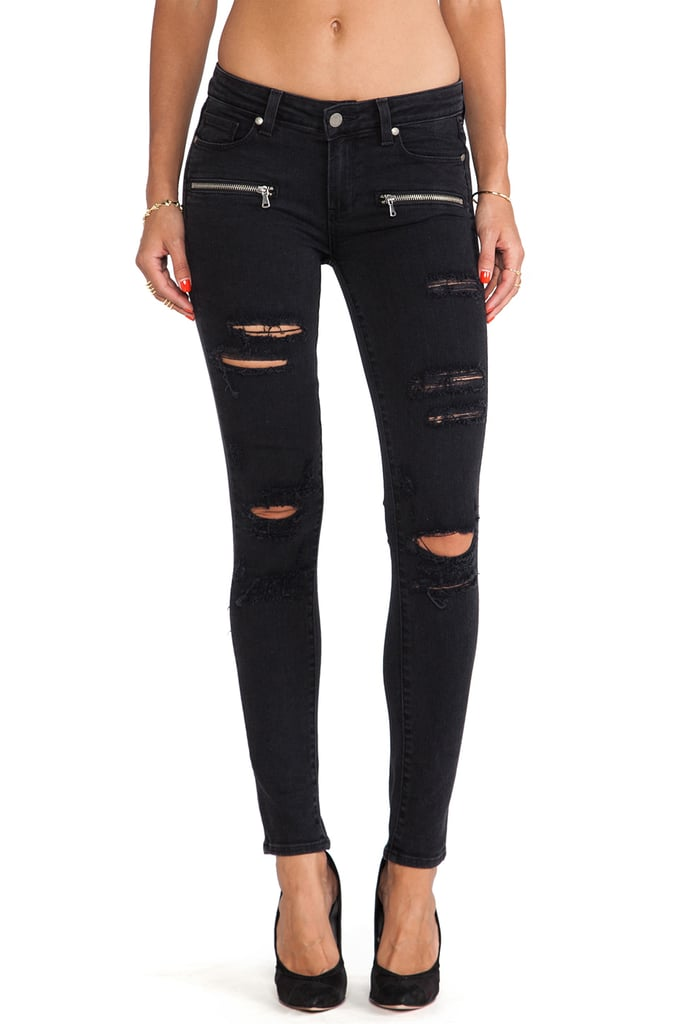 Paige Denim Indio Zip Skinny Jeans