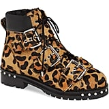 Topshop Animal Genuine Calf Hair Studded Boot