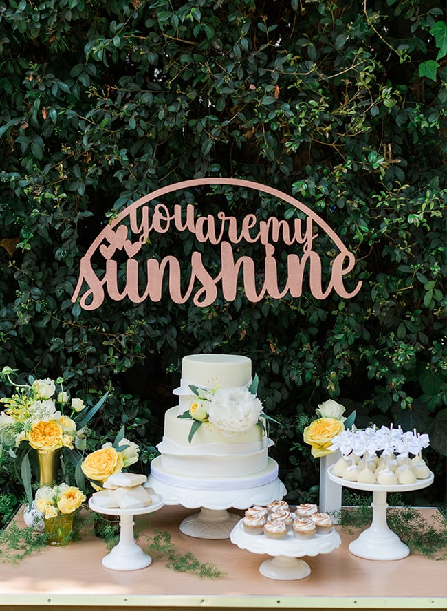 Sunshine-Themed Cake