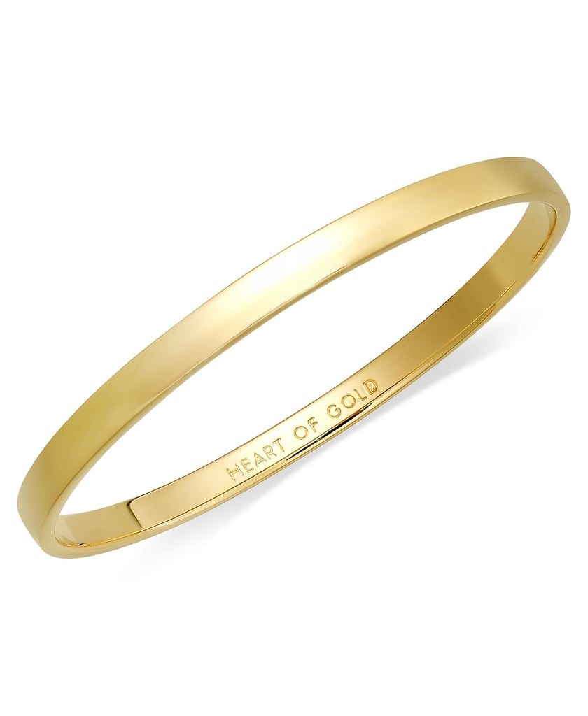 Kate Spade New York 12k Gold-Plated Heart of Gold Idiom Bangle Bracelet