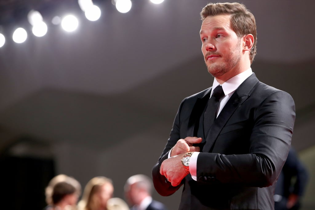 After showing off his budding bromance with Denzel Washington in Toronto on Thursday, Chris Pratt jetted off to Italy for the Venice Film Festival. On Saturday, the actor pulled double duty, attending both a photo call and a premiere for his latest film, The Magnificent Seven. Chris made two debonair appearances in Dolce & Gabbana and was all about the fans as he signed autographs and posed for selfies. This time around, though, instead of checking his watching on the red carpet like he usually does, Chris smirked at the audience and pointed at his watch, fully aware that his fans have caught on to his go-to red carpet pose. Too funny!      Related:                                                                24 Chris Pratt Pictures That'll Make You Weak in the Knees                                                                   17 Signs You're Obsessed With Chris Pratt                                                                   Shirtless Chris Pratt Is Truly a Gift to Us All                                                                   18 Chris Pratt Smirks That Will Probably Leave You Breathless