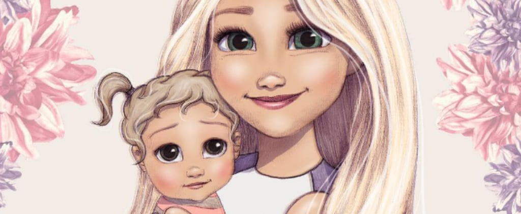 Disney Princesses as New Moms