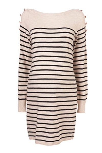 Maternity Stripe Button Tunic