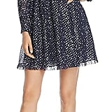Kate Spade New York Night Sky Dot Metallic Print Silk Dress