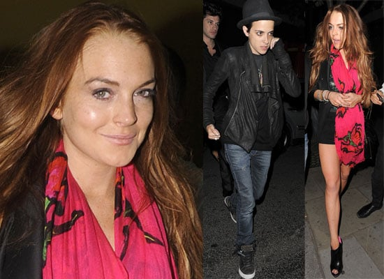 Photos Of Lindsay Lohan and Samantha Ronson Out In London, Sam Leaving After Lindsay Arrives At Bungalow 8