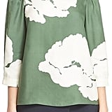 Tibi Amara Floral Print Off-the-Shoulder Top ($365)