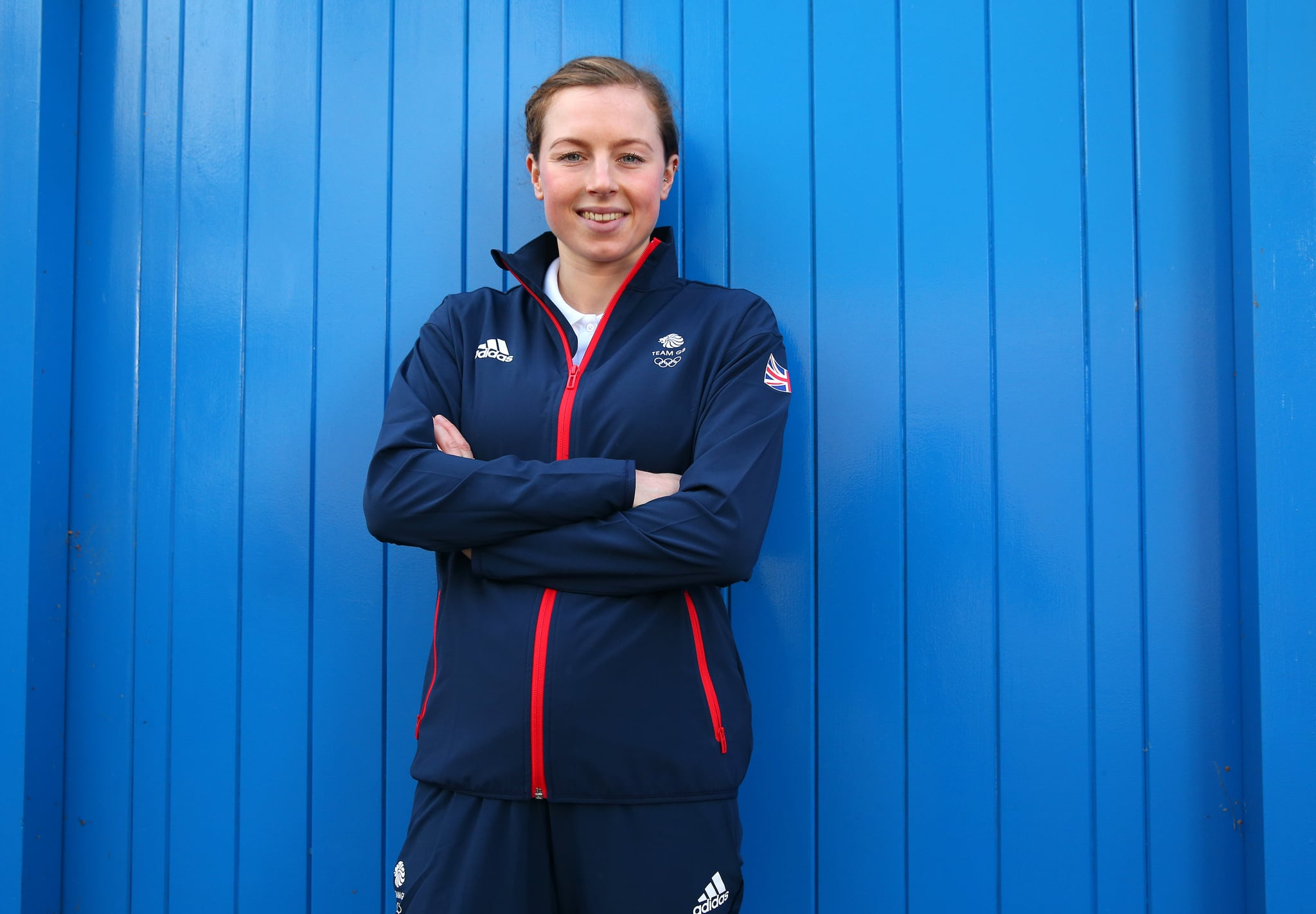 لیدز ، انگلستان - 02 نوامبر: جورجیا تیلور-براون از بریتانیای کبیر عکسی را به مناسبت اعلام رسمی سه گانه های انتخاب شده به تیم GB برای بازی های المپیک 2020 توکیو 2020 در 02 نوامبر 2020 در لیدز ، انگلیس عکس گرفت.  (عکس از الکس لیوسی / گتی ایماژ برای انجمن المپیک انگلیس)