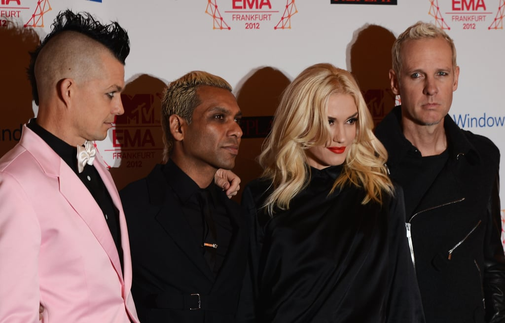 No Doubt posed for photos at the MTV EMAs.