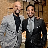 Here he is with Common, demonstrating the power of a good groutfit.