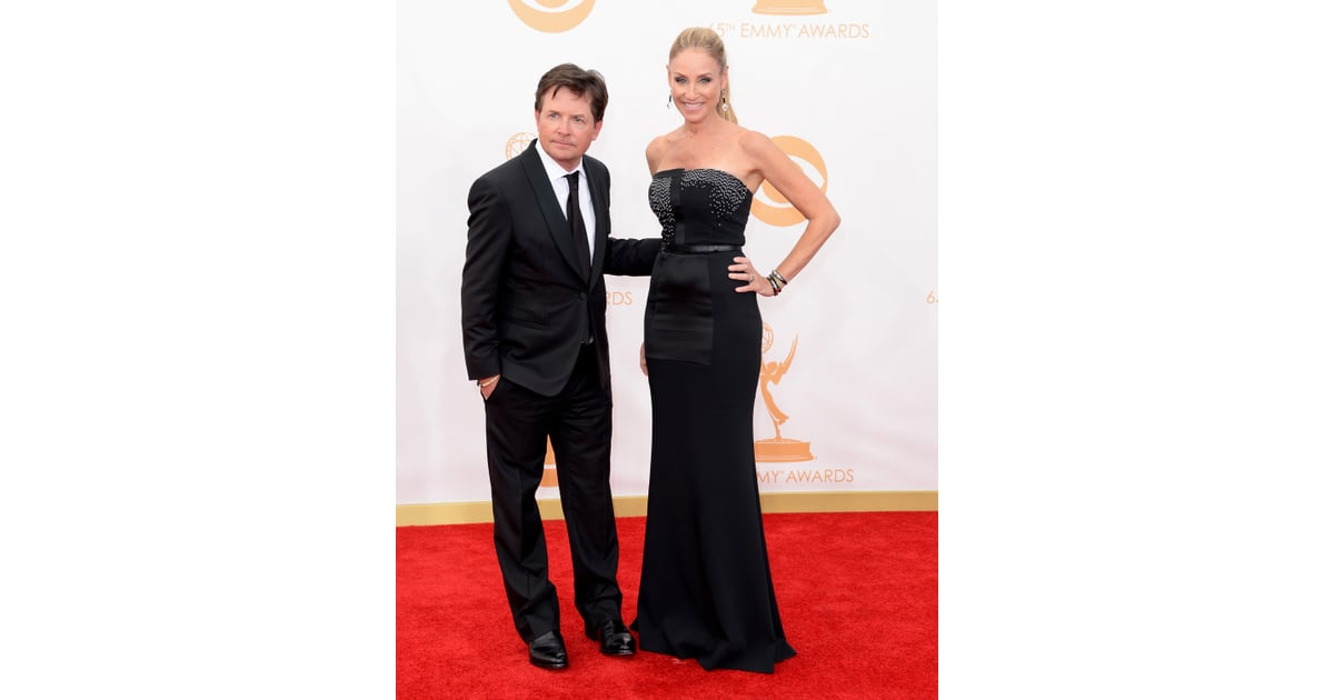 Michael j fox and tracy pollan walked the emmys red for Michael j fox and tracy pollan love story
