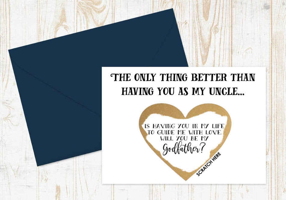 Godfather Proposal Scratch-Off Card | Godmother and Godfather