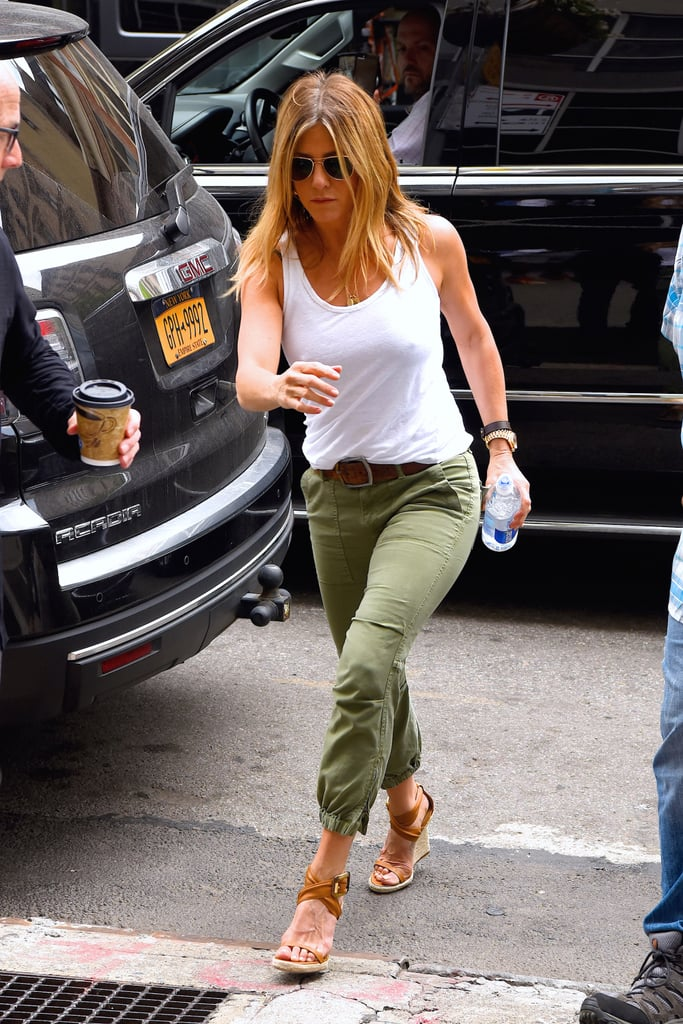 Jennifer Aniston S Burberry Wedges In New York June 2016