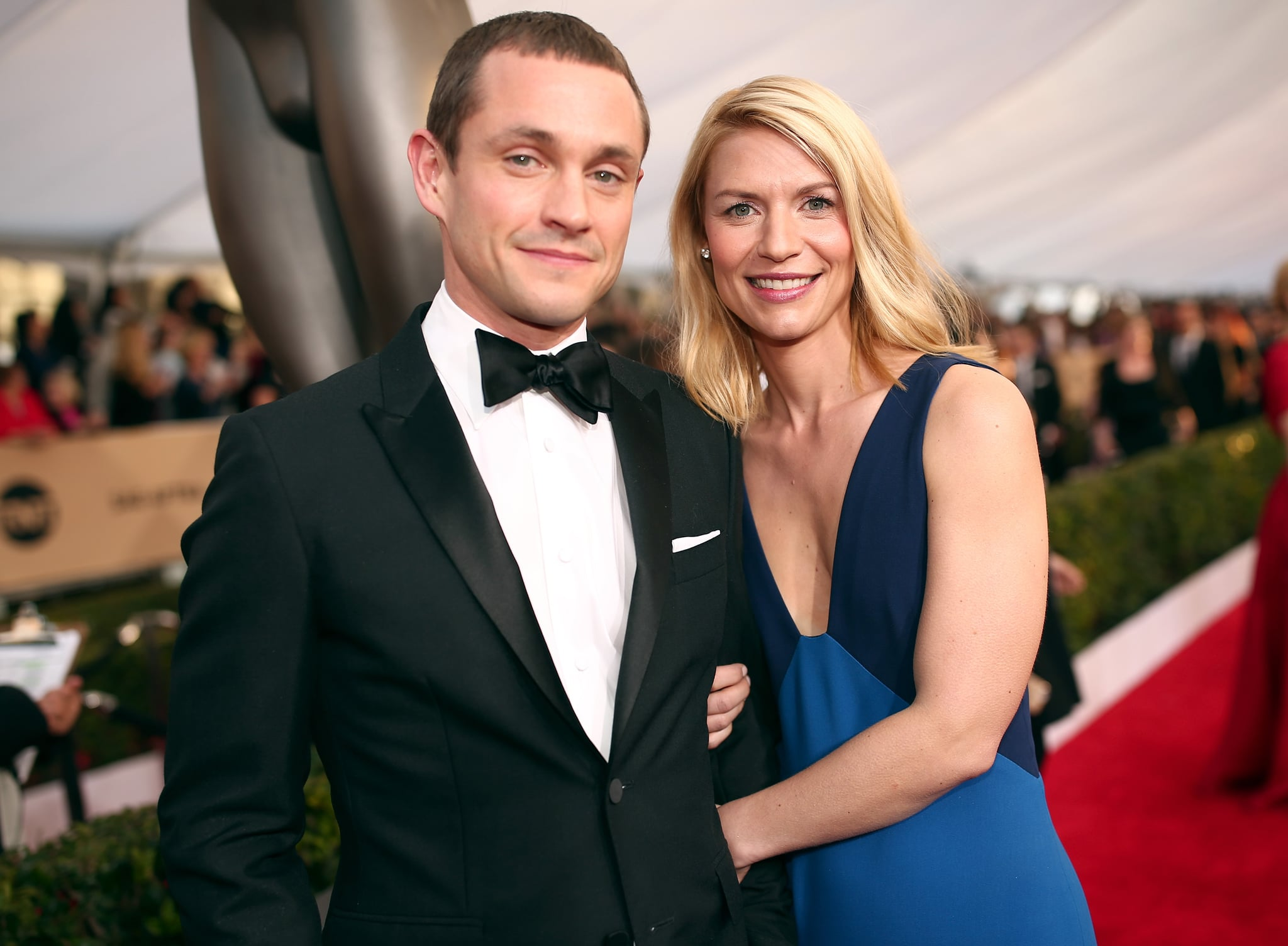 LOS ANGELES, CA - JANUARY 30:  Actress Claire Danes (R) and Hugh Dancy attend The 22nd Annual Screen Actors Guild Awards at The Shrine Auditorium on January 30, 2016 in Los Angeles, California. 25650_018  (Photo by Christopher Polk/Getty Images for Turner)