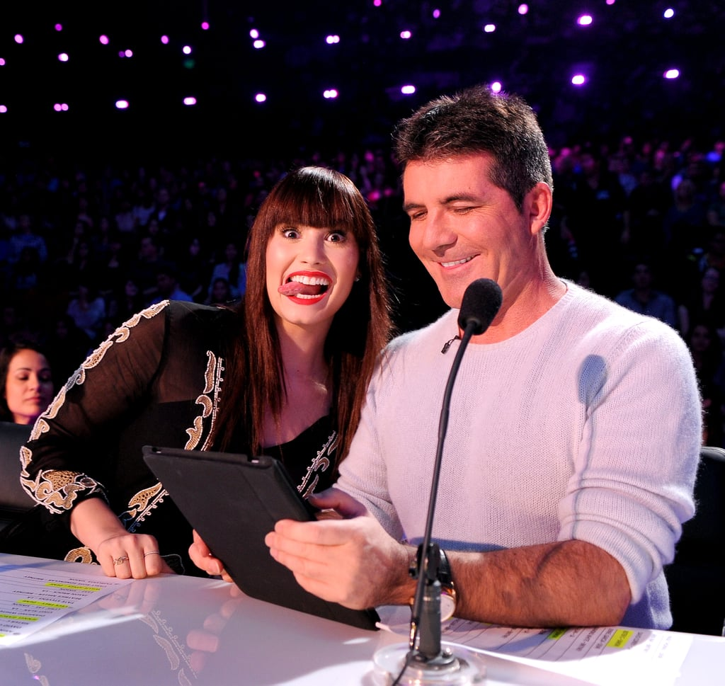 Demi Lovato got silly with Simon Cowell.