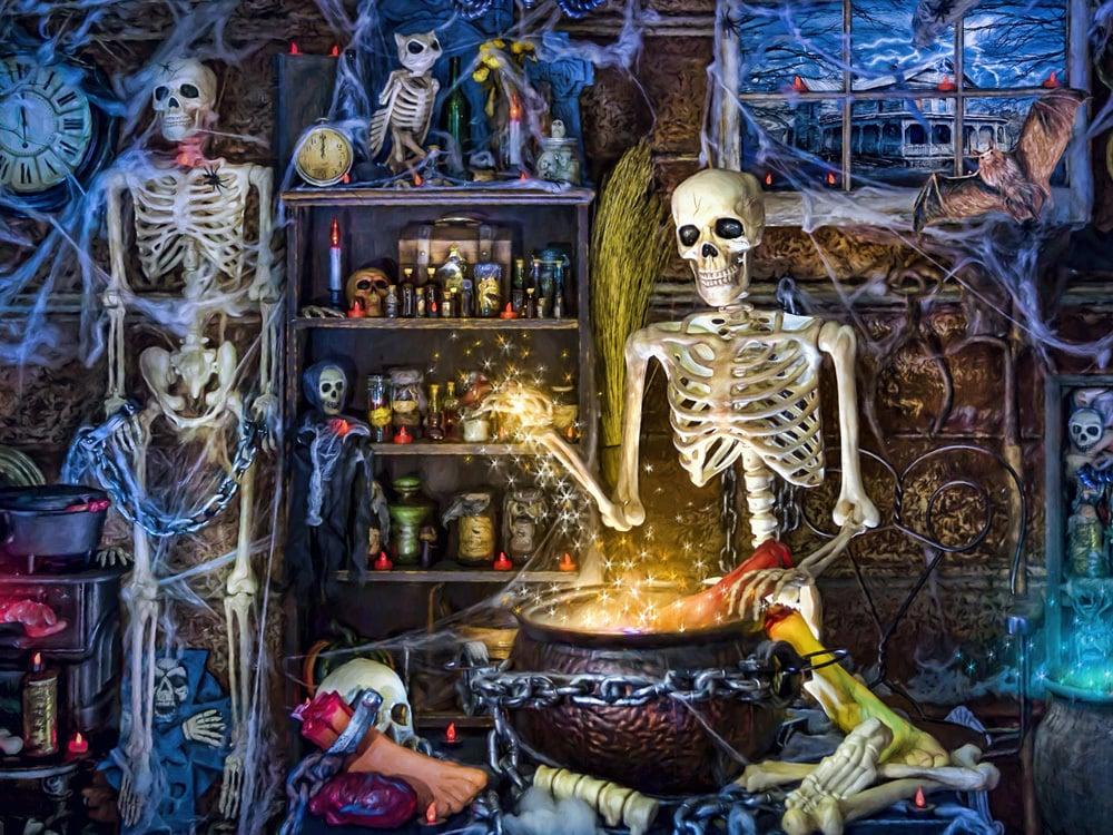Skeleton's Stew 550-Piece Jigsaw Puzzle