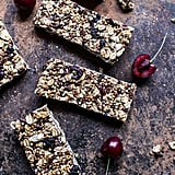 Cherry, Almond, and Cocoa Nib Chewy Granola Bars