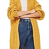 Topshop Long Open-Front Cardigan