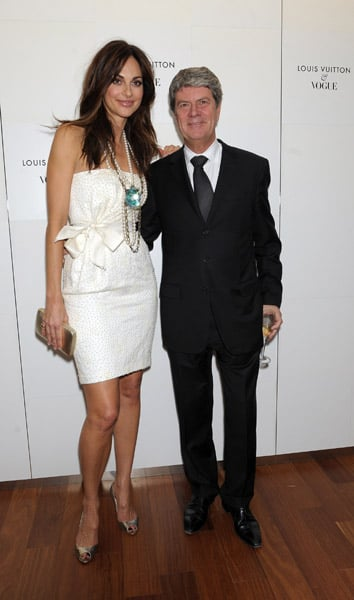 Actress Tasha de Vasconcelos, Yves Carcelle, Director of Louis Vuitton