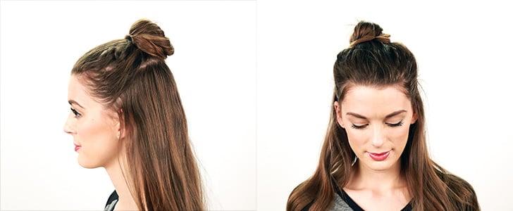 How To Get The Half Bun Hairstyle Popsugar Beauty Australia