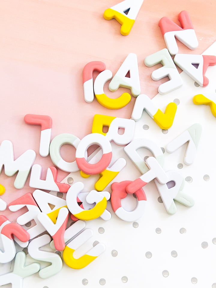 DIY Paint-Dipped Alphabet Letters