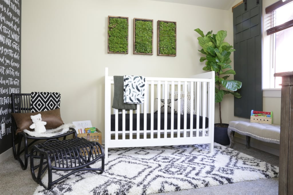 A three-in-one convertible crib ($290) will grow with baby Asher.