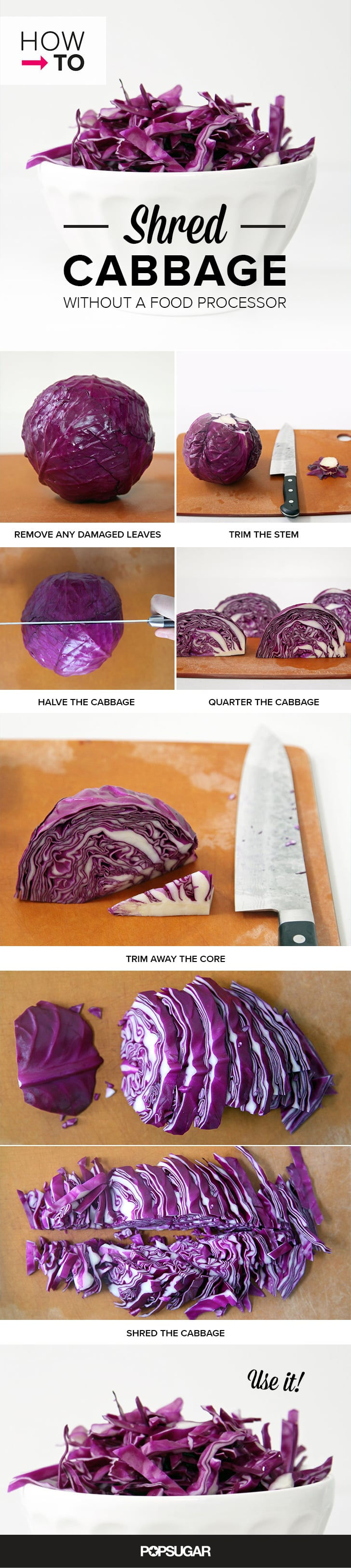 How to Shred Cabbage Without a Food Processor